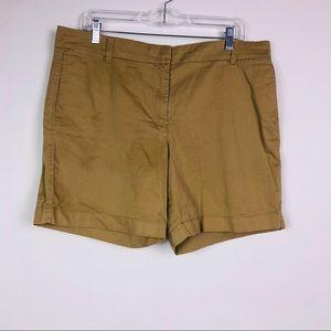 J Crew Chino Shorts Size 14